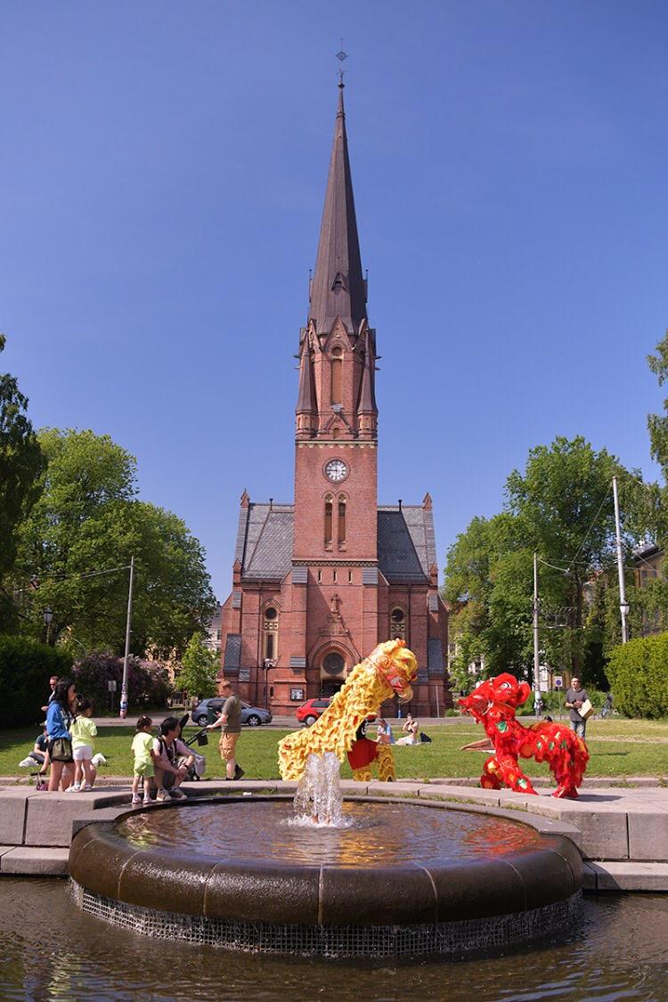 应国际佛光会Oslo协会邀请,我校参加2018的浴佛节活动。