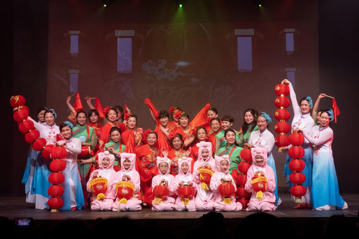 中文学校舞蹈队参加2019挪威华人春晚表演